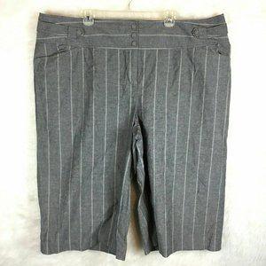 Lane Bryant Wide Leg Capri Pants Slacks Striped